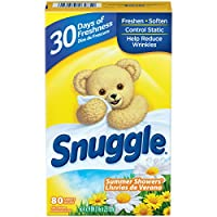 Snuggle Fabric Softener Dryer Sheets, Summer Showers, 80 Count