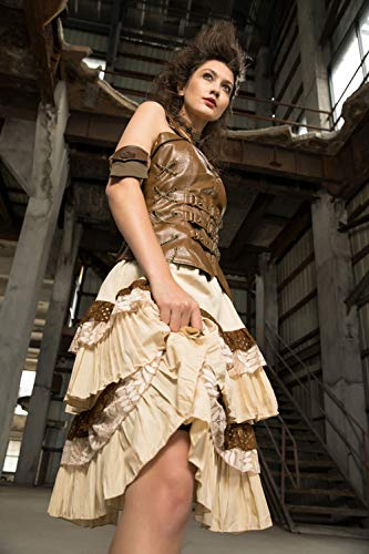 Shackles Devil Longue Belle Printemps Robe À Femmes Jupes Style Dentelle Angleterre De Lacets Couches Steampunk dfrTqwf