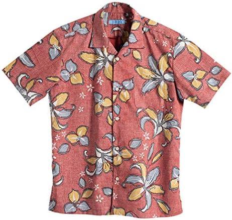 [MAJUN (マジュン)] 国産シャツ かりゆしウェア アロハシャツ 結婚式 メンズ 半袖シャツ 開襟 ペイントフラワー(開襟)
