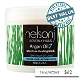Nelson j Beverly Hills Argan Oil 7 Moisture Healing Mask - Scent: Rosemary Mint - 16 oz (16 oz)