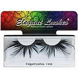 Elegant Lashes F404 Premium Black Feather False Eyelashes Halloween Dance Rave Costume