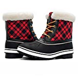 Globalwin Women's 1727 Waterproof Snow Boots (9 (M) US Women's, 1727BLACK/RED)