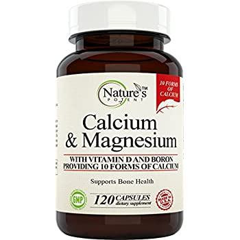 Calcium Magnesium Supplement with Vitamin D, Boron - Providing 10 Forms of Calcium, 120 (capsules)