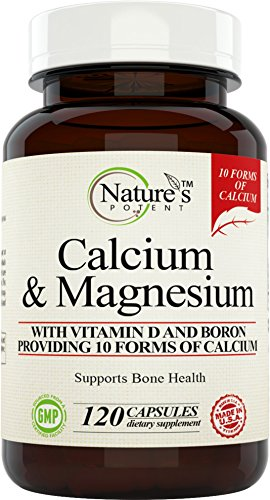 Calcium Magnesium Supplement with Vitamin D, Boron – Providing 10 Forms of Calcium, 120 (capsules)