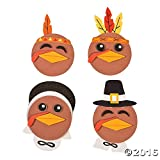 Turkey Head Magnet Craft Kit (Makes 12) Thanksgiving