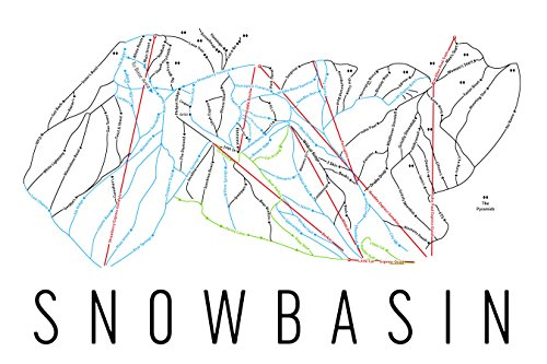 Snowbasin Poster, Snowbasin Ski Resort Poster, Snowbasin Art Print, Snowbasin Trail Map, Snowbasin Trail Map Art, Snowbasin Wall Art Poster, Snowbasin Utah Gift - Size 12