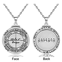 LAN27 BijouxTalisman For Good Luck Key of Solomon Pentacle Seal Pendant Necklace Pagan Wiccan Jewelry