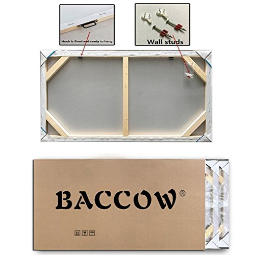 baccow 2448'' Modern Abstract Painting Wall Decor Landscape Paintings Oil Hand Painting 3D Wall Art On Canvas Abstract Artwork Art Wood Inside Framed Hanging Wall Decoration by baccow (Image #8)