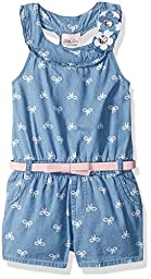 Little Lass Toddler Girls\' 1 Pc Ribbon Romper, Chambray, 3T