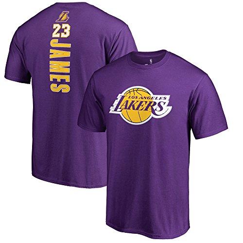- Fanatics Unisex Los Angeles Lakers Lebron James Backer Name & Number T-Shirt Large Purple