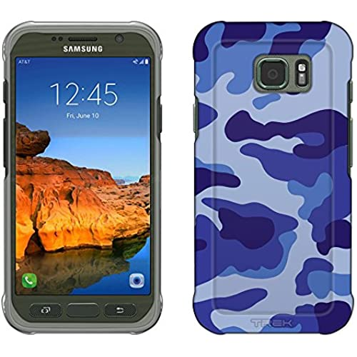 Samsung Galaxy S7 Active Case, Snap On Cover by Trek Camouflage Blue Slim Case Sales