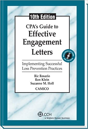 cpas guide to effective engagement letters tenth edition 9780808035107 economics books amazoncom