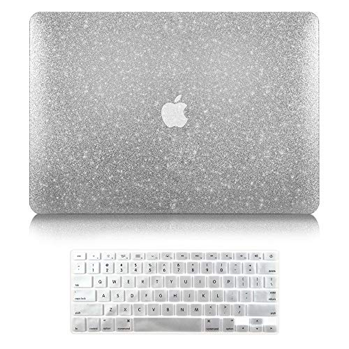 TOP CASE - 2 in 1 Bundle Deal Bling Hard Case + Keyboard Cover Compatible with Apple MacBook Air 13