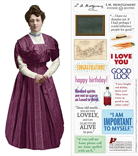 L. M. Montgomery Quotable Notable - Die Cut Silhouette Greeting Card and Sticker -