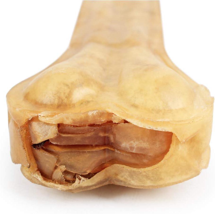 Accesorios Alimentos Yissma Juguete para Mascotas Perro Hueso Perrito Cuero de Vaca palillo Limpio Chews Juguete de Cuero molares Hueso Dientes para