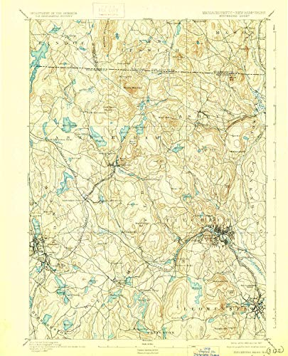 Hill Rollstone (YellowMaps Fitchburg MA topo map, 1:62500 Scale, 15 X 15 Minute, Historical, 1893, Updated 1927, 19.5 x 15.8 in - Tyvek)