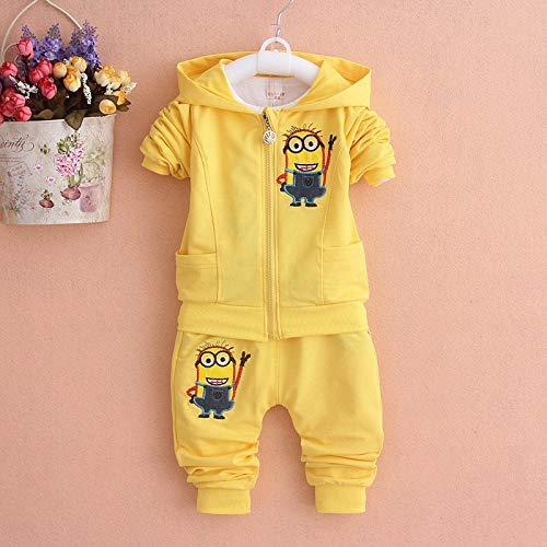 Best Quality - Clothing Sets - Boys Clothing Set Cotton Minion Clothing Sets Unisex Sport Suit 3pcs Coat+T Shirt+Pants Baby Boys Girls Clothes - by LA Moon's - 1 -