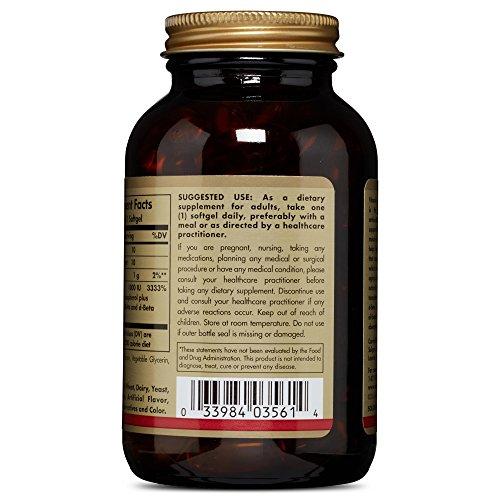 Solgar Vitamin E 1000 IU (d Alpha Tocopherols & Mixed Tocopherols) Mixed Softgels