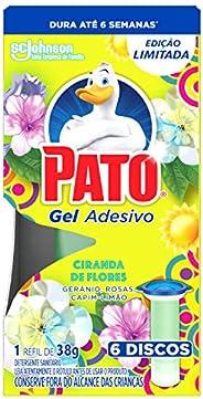 Desodorizador Sanitário Pato Gel Adesivo Refil Ciranda de Flores Ed. Ltda 6 Unidades, Pato