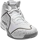 AND1 Men's Havok Basketball Shoe,Bright White/Bright White/Silver,US 13 M