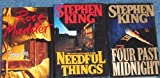 download ebook lot of 3 stephen king hardbacks w jackets books ( four past midnight *1st ed* ~ rose madder *1st ed* ~ needful things * trade size not trade* pdf epub