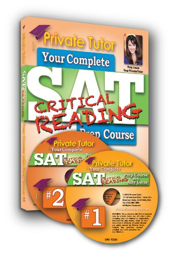 Private Tutor - READING - 5-Hour Interactive SAT Prep Course - 2 DVDs & Book