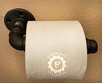 Single Toilet Paper Holder, Pipe Holder, Industrial Pipe, Steampunk Decor, Industrial Decor, Pipe Decor, Home Decor, Office Decor