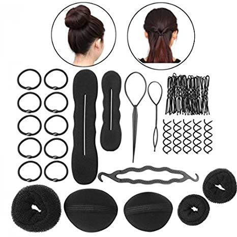 buy chronex hair styling accessories kit combo set of 8 different