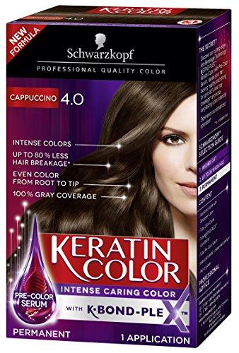 Schwarzkopf Keratin Color Permanent Hair Color Cream, 4.0 Cappuccino (Schwarzkopf Hair Color)