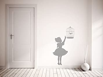 Top Qualité Vintage Petite Fille et Cage à Oiseaux. Premium ...