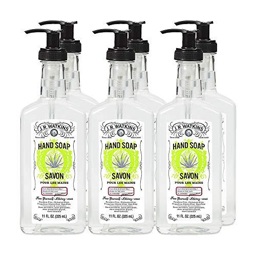J.R. Watkins Hand Soap, Gel, 11 fl oz, Aloe & Green Tea (6 pack)