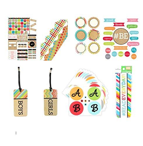#TooCute Collection 8 Piece Customizable Calendar Bulletin Board Bundle