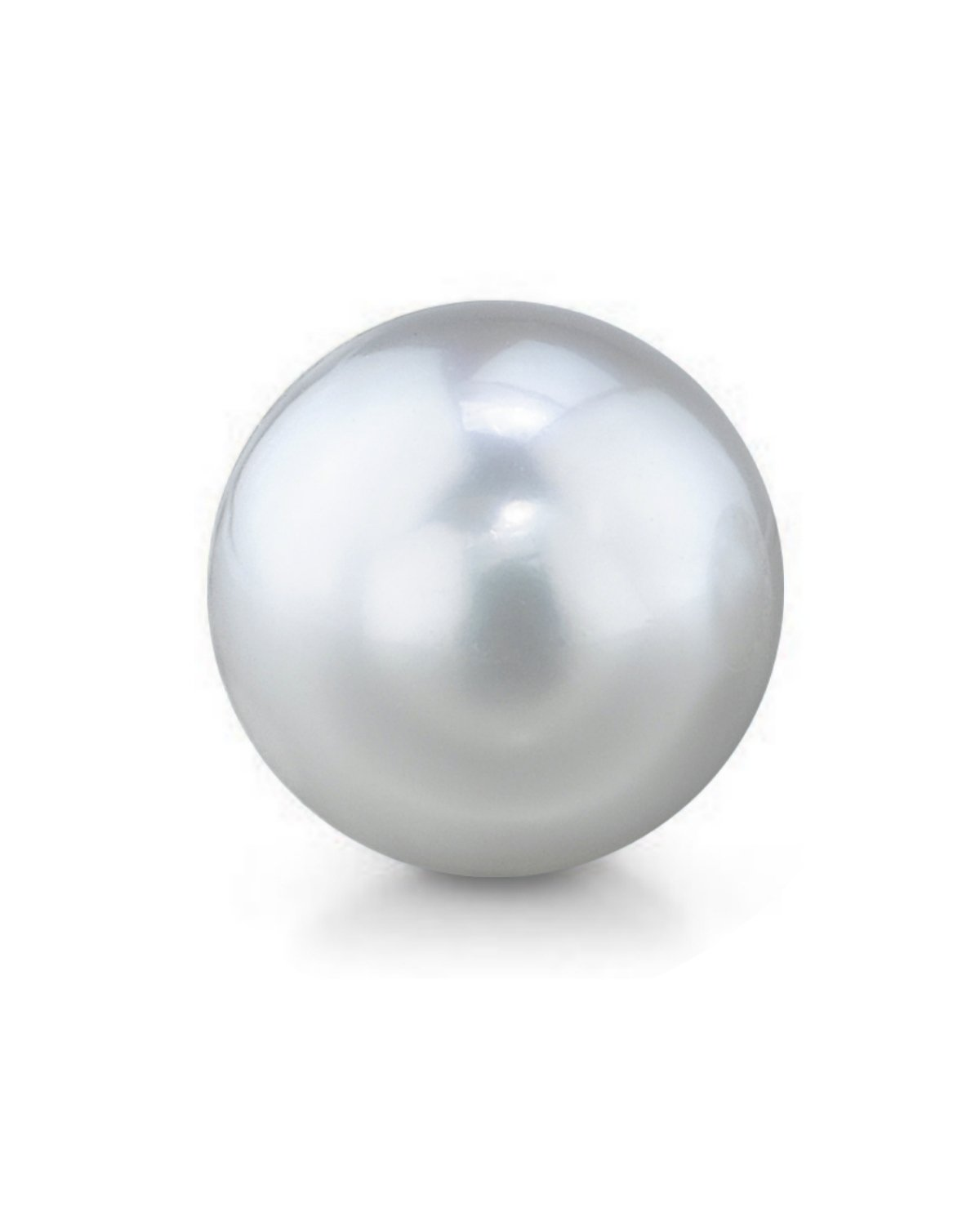 Genuine Single White South Sea Undrilled Round Loose Cultured Pearl - AAA Quality