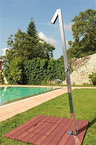 ducha exterior de acero inoxidable para el jardín Zenit Q70: Amazon.es: Jardín