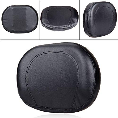 PanelTech Universal Sissy Bar Backrest Cushion Pad For Harley Honda Suzuki Yamaha Black