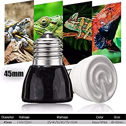 VietFA LED Bulbs & Tubes - E27 Pet Heating lamp Black Infrared Ceramic Emitter Heat Light Bulb Pet Brooder Reptile Lamp 25W 40W 50W 60W 75W 100W 1 PCs