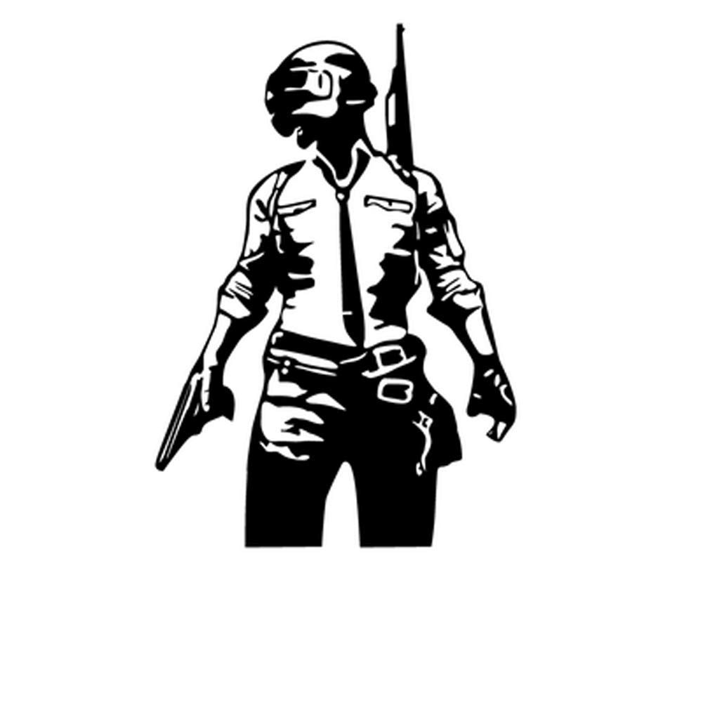 Isee 360 Pubg Diy Battlegrounds Logo Black Stickers For