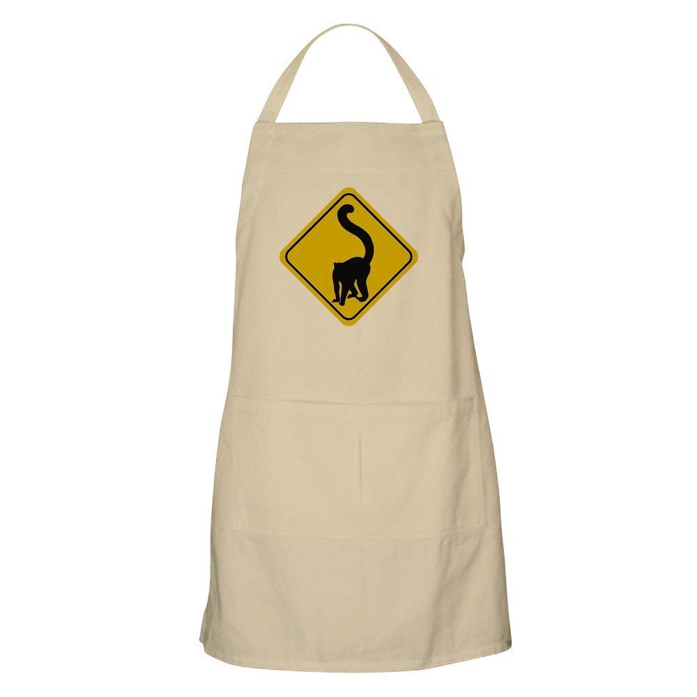 CafePress Lemur Crossing Sign BBQ エプロン グリルエプロン ベージュ 006060468240D7A  カーキ(Khaki) B073W1YVBM