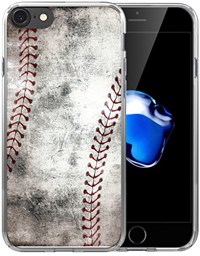 6S Plus Case Baseball Design/IWONE Designer Non Slip Rubber Durable Protective Skin Transparent Cover Shockproof Compatible for iPhone 6/6S Plus + Creative Vintage Baseball Art Pattern Printing
