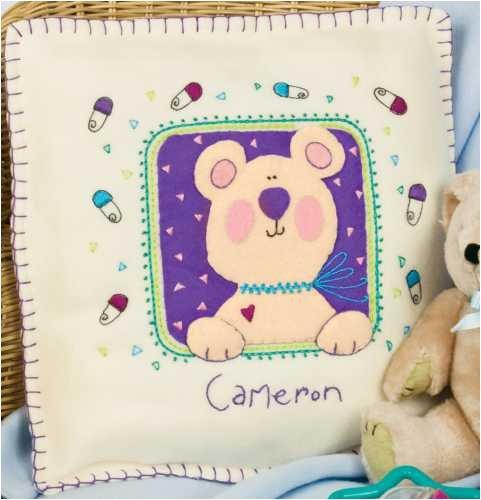 Dimensions L'il Tots Welcome Baby Pillow Fleece/Felt Applique Kit -