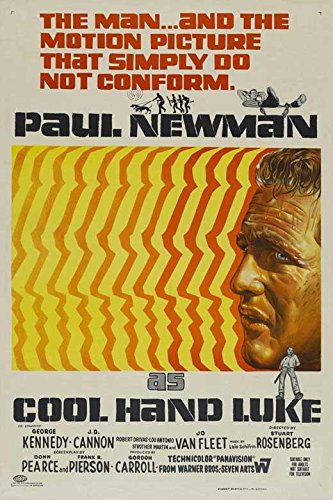 Cool Hand Luke Movie POSTER 27 x 40, Paul Newman, George Kennedy, AA, MADE IN THE U.S.A.
