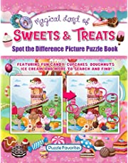 Spot the Difference Magical Land of Sweets & Treats: Picture Puzzle Book with Fun Candy, Cupcakes, Doughnuts, Ice Cream and More to Search and Find!