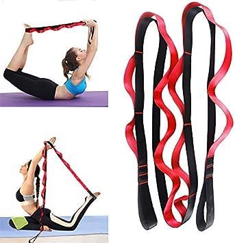 bandas el/ásticas cintur/ón de nailon y yoga Banda de fitness para yoga danza latina banda el/ástica para moldear tren yoga yoga