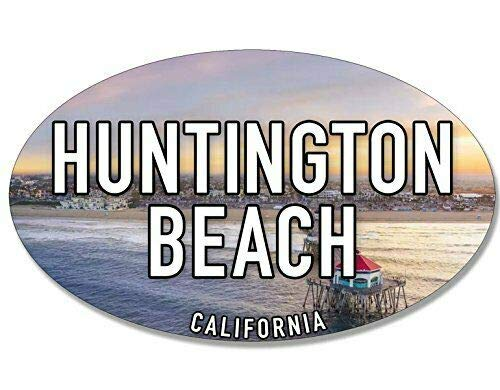 Logo Fridge Magnet - MAGNET 3x5 inch Oval Huntington