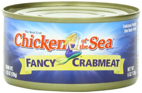 - Chicken of the Sea Fancy Crab, 6 ounce Cans (Pack of 12)