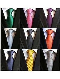 Welen Lot 9 PCS Classic Men's Silk Tie Necktie Woven JACQUARD Neck Ties