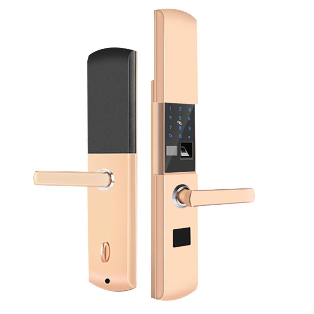 BLWX - Smart Lock-Stainless Steel+zinc Alloy-Fingerprint Lock Home Security Door Lock Password Lock Electronic Lock Door Lock Card Magnetic Card Lock-Size: 357X80X68mm Door Lock (Color : B)