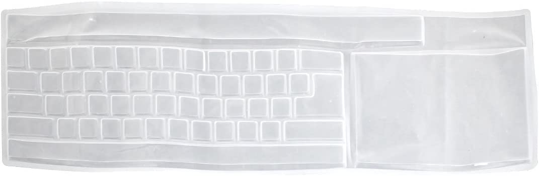 uxcell Clear Silicone Laptop Computer Universal Keyboard Protective Film