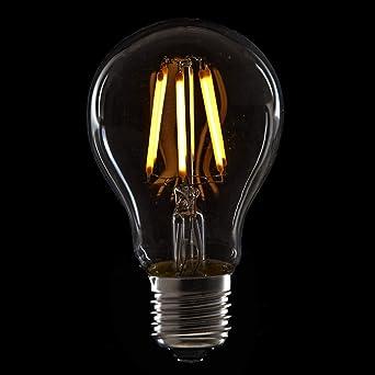 Greenice | Bombilla Filamento LED Dimable E27 6W 560Lm 30.000H | Blanco Cálido