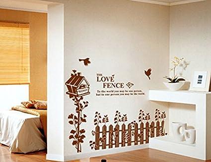 Dandelion casa d ¨ ¦ cor carta adesivi da parete per salotto 70* 50cm, PVC, Brown, Fence Shinemap